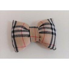 Bow Tie Beige Tartan
